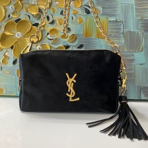 YSL Cosmetic Pouch to Crossbody Bag